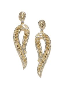 Tipsyfly Party Wear Citrine Crystal Earrings For Women (1 Pair Earring)