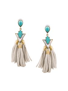 Tipsyfly Post And Back Closure Sky Blue Alloy Drop Earrings For Womens