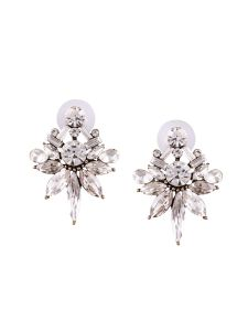 Tipsyfly Post And Back Closure White Alloy Stud Earrings For Womens