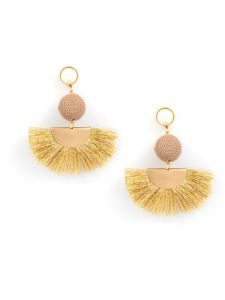 Tipsyfly Post And Back Metal Idris Earrings For Women