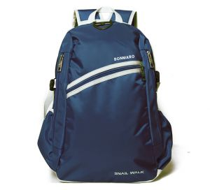 Bonmaro Snail Walk Navy Blue School/college Backpack Bag