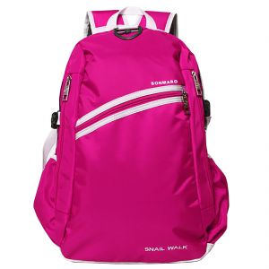 College Bags - Bonmaro Snail Walk Pink School/College Backpack Bag