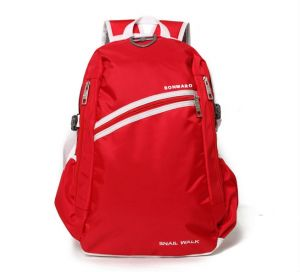 Bonmaro Snail Walk Red School/college Backpack Bag
