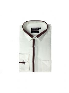 White Designer Mens Full Shirt
