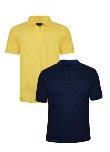 Tangy Pack Of 2 Men Yellow&blue Polo T-shirt- ( Code-5x2) )