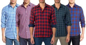 Menswear ,Mens Footwear ,Men's Accessories  - Assorted Checks Shirts Pack of 5