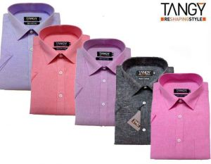 Men's Wear - Tangy Pack Of 5 Half Regular Fit Shirts