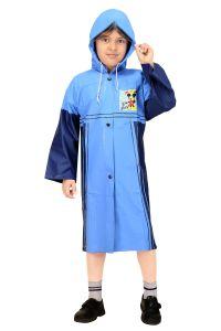 Sweaters , rain jackets & seasonal wear - Real Rainwear Light Blue Baggy Printed PVC Fabric Raincoat for Boys - RRMRLB