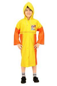 Sweaters , rain jackets & seasonal wear - Real Rainwear Yellow Baggy Printed PVC Fabric Raincoat for Boys - RRMRYL
