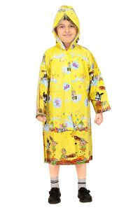 Real Rainwear Printed Straight Printed PVC Fabric Raincoat For Boys - RRPMDRGN