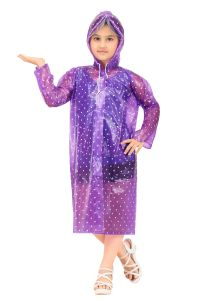Winter wear & seasonal wear - Real Rainwear Printed Straight Printed PVC Fabric Raincoat for Girls - RRSEAVL