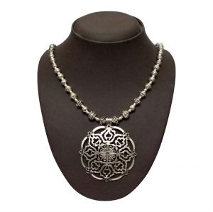 surat tex,la intimo,asmi,jharjhar Necklaces (Imitation) - JHARJHAR SILVER TRADITIONAL NECKLACE (Code - JV-109)