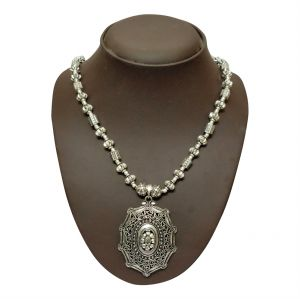 kiara,surat tex,la intimo,asmi,jharjhar Necklaces (Imitation) - JHARJHAR SILVER TRADITIONAL NECKLACE (CODE - JV-112)