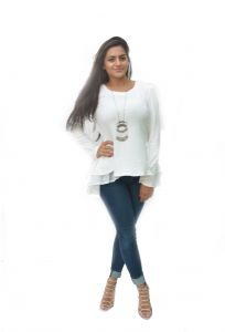 the jewelbox,jpearls,jharjhar Tops & Tunics - JHARJHAR RUFFLED WHITE TOPS & TUNICS (JV-30)