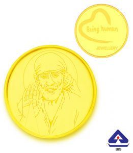Gold Coins - P.N.Gadgil Jewellers 2 gms Being Human & Saibaba Gold Coin