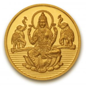 Gold Coins - P.N.Gadgil Jewellers 1 gm Laxmi shree Gold Coin