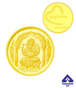 P.n.gadgil Jewellers 2 Gms Being Human & Ganesh Gold Coin