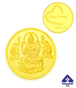 Gold Coins - P.N.Gadgil Jewellers 2 gms Being Human & Laxmi Gold Coin