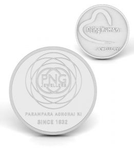 P.n.gadgil Jewellers 50 Gms Being Human & Png Silver Coin