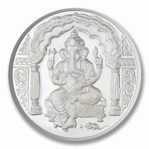 Coins - P.N.Gadgil Jewellers 50 gms Ganesha Om Silver Coin
