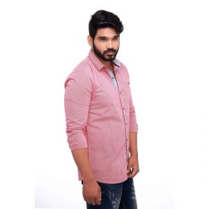 Pink Spring Slim Fit Men
