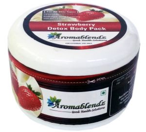 Aromablendz Strawberry Detox Body Pack - Pink 500gms