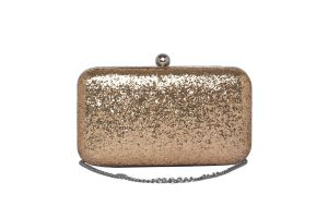 Rysha Gold Color Solid Pu Clutch For Women (code-ry-gg0044)