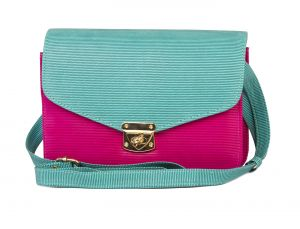 Rysha Green & Pink Pu Solid Crossbody Sling Bag For Womens - Ry1017