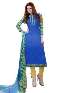 Biba Dress Material Combos - Biba Embroidered Salwar Suit with Dupatta Dress Material UC129