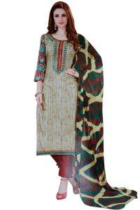 Biba Dress Material Combos - Biba Embroidered Salwar Suit with Dupatta Dress Material UC132