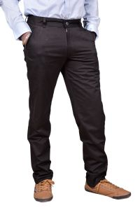 Just Trousers Black Regular -fit Flat Trousers (code - 33 )