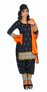Ellis Harvey Orange Poly Cotton Patiyala Salwar Suit Eh_945