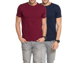 Zorchee Men's Round Neck Cotton Plain T-Shirts -Pack of 2 (Code - ZO-06-07  PL)
