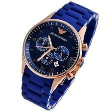 Men's Watches   Analog   Other - Armani Round Blue Rubber Watch For Men_code-ar5806