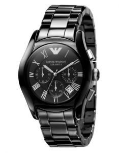 Men's Watches   Round Dial   Analog   Other - Imported Emporio Armani Ar1400 Black Ceramic Chronograph Men Wrist Watch