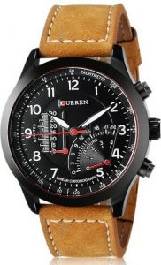 Curren Black Metal Watch For Men
