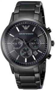 Imported Armani Watches Ar2453 Gents Black Stainless Steel Watch