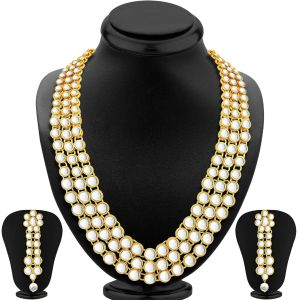 Sukkhi,Tng,La Intimo,Estoss,Asmi Women's Clothing - Sukkhi Anushka Sharma Bollywood Inspired Traditional Kundan Necklace Set For Women - (Code - N71793ADP1350)