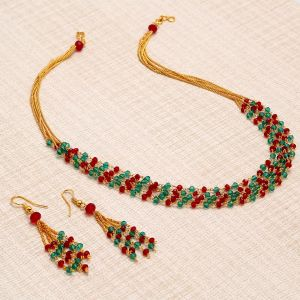 Kiara,Sukkhi,Ivy,Parineeta,Platinum,Sleeping Story,Diya Women's Clothing - Sukkhi Astonish Gold Plated Multicolour Necklace Set For Women - (Code - N72394GLDPV112017)