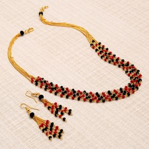 Sukkhi,Sangini,Lime,Port Women's Clothing - Sukkhi Astonish Gold Plated Multicolour Necklace Set For Women - (Code - N72395GLDPV112017)