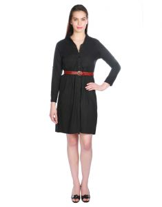 Opus Black Solid Cotton Fusion Wear Women