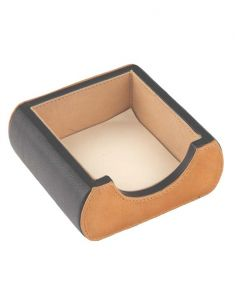 Desk Accessories - JL Collections Leather Camel & Black Small Memo Holder