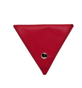 Jl Collections Pu Triangle Shape With Two Side Button Closure Coin Pouch (code - Jl_3435)