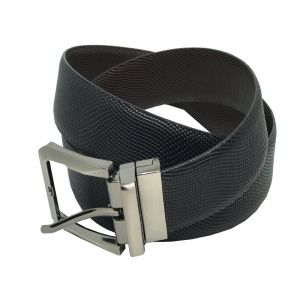 JL Collections Scale Men Formal Black And Brown Genuine Leather Reversible Belt (Code - JL_BL_6-SCALE)