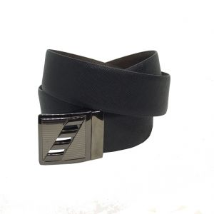 Jl Collections Sufiano Men Formal Black And Brown Genuine Leather Reversible Belt (code - Jl_bl_7-sufiano)