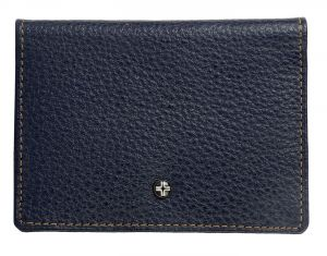 Jl Collections Unisex Navy Blue Genuine Leather Card Holder (4 Card Slots) ( Code - Jl_cc_1287_bl)