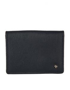 Jl Collections Blue Unisex Leather Credit Card Case Wallet