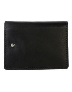 Jl Collections 12 Card Slots Men And Women Black Leather Card Case Wallet