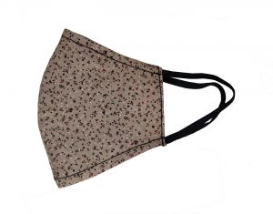 Jl Collections Beige Printed Reusable Outdoor Fashionable Mask For Men & Women - ( Code - Jl_mk_10 )