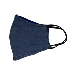 Jl Collections Comfortable And Skin Friendly Cloth Fashionable Blue Face Masks For Men & Women - ( Code - Jl_mk_26 )